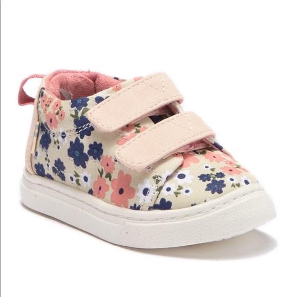 Toms Other - Toms Floral Toddler Lenny Mid Sneaker Sz 3